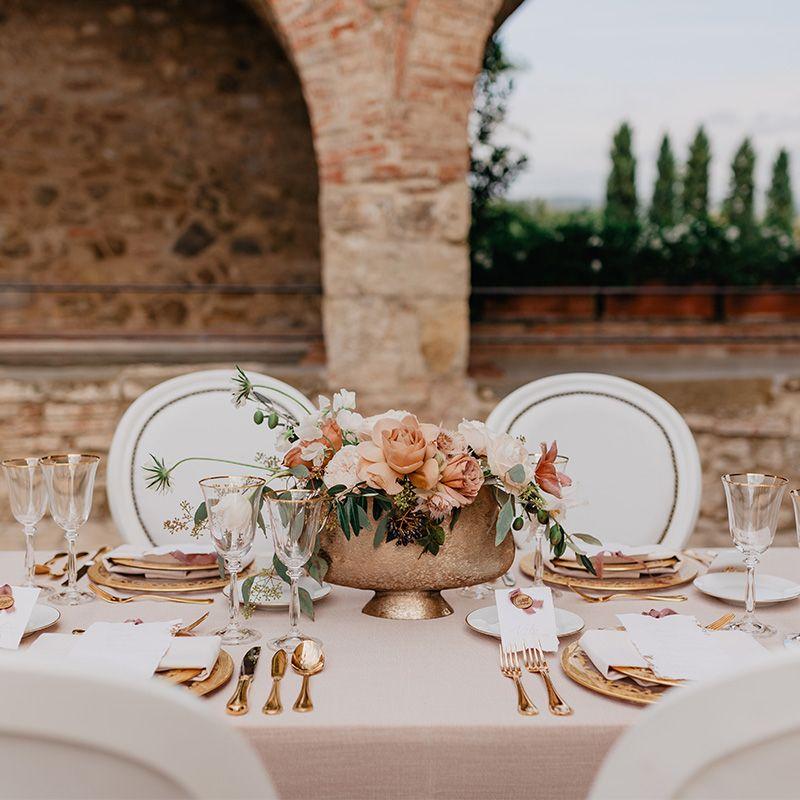 allestimento tavoli fiori