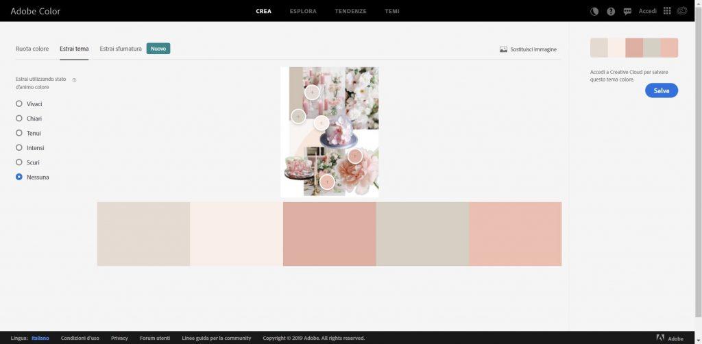 Creare una color palette