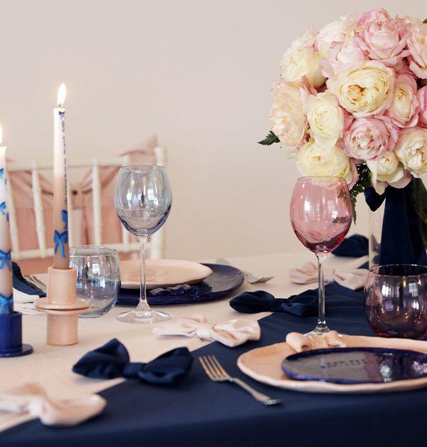 un table setting coi fiocchi