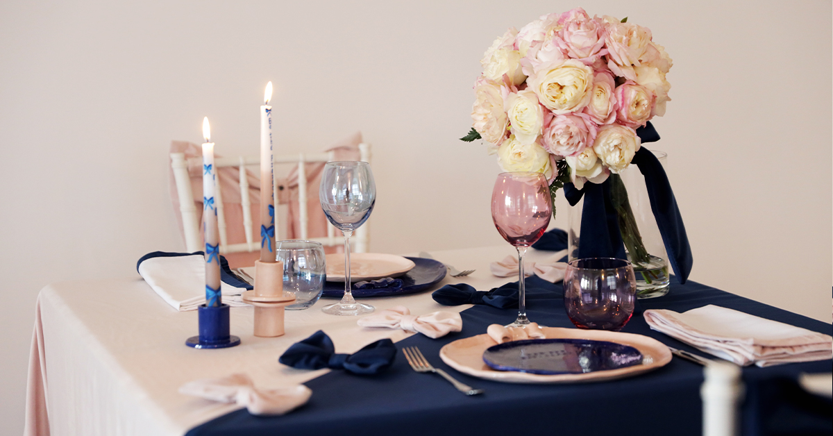 un table setting coi fiocchi