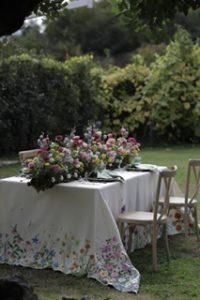 tovaglia dipinta a mano matrimonio
